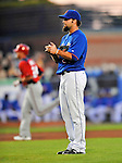5 March 2012: New York Mets pitcher Dillon Gee stands behind the mound after serving up a second inning home run to Rick Ankiel during a Spring Training game against the Washington Nationals at Digital Domain Park in Port St. Lucie, Florida. The Nationals defeated the Mets 3-1 in Grapefruit League play. Mandatory Credit: Ed Wolfstein Photo