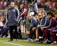 Colorado Rapids head coach Gary Smith observes his team from the sidelines. The Colorado Rapids defeated the Chivas USA 1-0 at Home Depot Center stadium in Carson, California on Friday evening March 26, 2010.  .