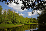 Europe, Russia, Pushkin. Great Cascade Ponds at Catherine Park at Catherine Palace.