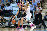 02 March 2014: Duke's Haley Peters (33) and North Carolina's Latifah Coleman (2). The University of North Carolina Tar Heels played the Duke University Blue Devils in an NCAA Division I women's basketball game at Carmichael Arena in Chapel Hill, North Carolina. UNC won the game 64-60.