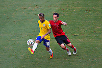 Fortaleza, Brazil - Tuesday, June 17, 2014: Mexico and Brazil are 0-0 ending the first half of World Cup group play at Est&aacute;dio Castel&atilde;o, <br /> <br /> 17/06/2014/MEXSPORT/OSVALDO AGUILAR<br /> <br /> Estadio: Castelao, Fortaleza