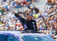Aug 21, 2016; Brainerd, MN, USA; NHRA  funny car driver Jack Beckman during the Lucas Oil Nationals at Brainerd International Raceway. Mandatory Credit: Mark J. Rebilas-USA TODAY Sports