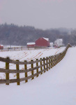 Berks County Pennsylvania winter snow winter farm scene