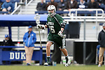 DURHAM, NC - MARCH 11: Loyola's P.J. Brown. The Duke University Blue Devils hosted the Loyola University Maryland Greyhounds on March 11, 2017, at Koskinen Stadium in Durham, NC in a Division I College Men's Lacrosse match. Duke won the game 15-7.