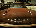 Rusty classic Chevrolet in USA