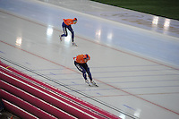 SPEED SKATING: HAMAR: Vikingskipet, 04-03-2017, ISU World Championship Allround, 5000m Men, Patrick Roest (NED), Jan Blokhuijsen (NED), ©photo Martin de Jong