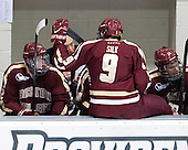 Kevin Hayes (BC - 12), Jerry York (BC - Head Coach), Brendan Silk (BC - 9), Brooks Dyroff (BC - 14) - The Providence College Friars tied the visiting Boston College Eagles 3-3 on Friday, December 7, 2012, at Schneider Arena in Providence, Rhode Island.