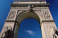 Washington Square Arch, designed by McKim Mead & White, Washington Square Park, Greenwich Village, New York, New York