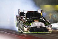 Jun 17, 2016; Bristol, TN, USA; NHRA funny car driver Alexis DeJoria during qualifying for the Thunder Valley Nationals at Bristol Dragway. Mandatory Credit: Mark J. Rebilas-USA TODAY Sports