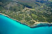Vue aérienne du village de Vao, Ile des Pins, Nouvelle-Calédonie