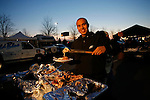 27 Nov 2008:  Philadelphia Eagles fans enjoy thanksgiving dinner before the game against the Arizona Cardinals on November 27th, 2008. The Eagles won 48 to 20 at Lincoln Financial Field in Philadelphia, Pennsylvania.