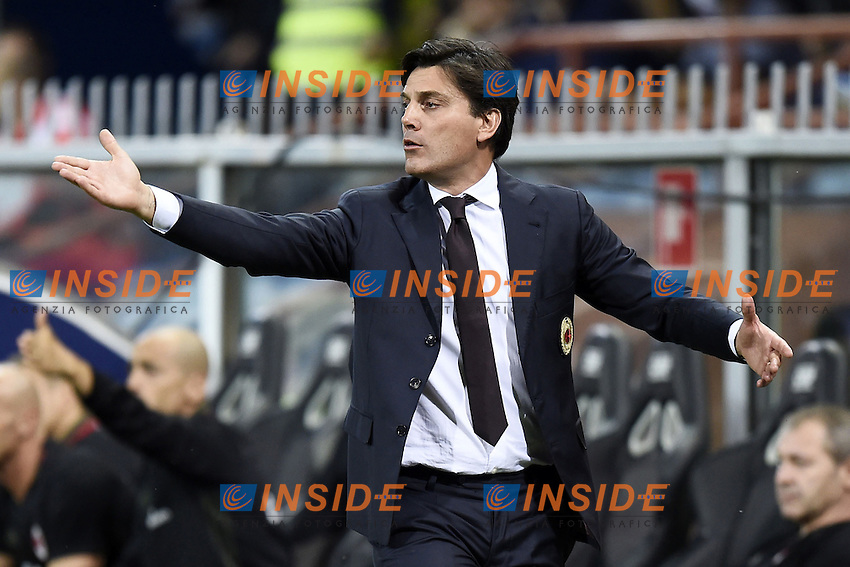 Vincenzo Montella Milan <br /> Genova 16-09-2016 Stadio Marassi <br /> Football Calcio Serie A <br /> Sampdoria - Milan <br /> Foto ImageSport/Insidefoto