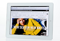 Apple Ipad showing Topshop Website  - Jan 2013.
