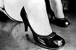 Black shoes on female