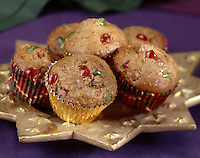 Holiday Candies Fruit Muffins on a Golden Star Plate