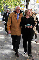 NEW YORK, NY - NOVEMBER 14:  Former U.S. presidential candidate Senator Bernie Sanders (D-VT) spotted with his wife walking along Central Park Jane O'Meara Sanders in New York, New York on November 14, 2016.  Photo Credit: Rainmaker Photo/MediaPunch