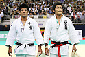 (L to R) Hirotaka Kato (JPN), Masashi Nishiyama (JPN), .May 13, 2012 - Judo : .All Japan Selected Judo Championships, Men's -90kg class Final .at Fukuoka Convention Center, Fukuoka, Japan. .(Photo by Daiju Kitamura/AFLO SPORT) [1045]