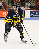 Elliott Sheen (Merrimack - 11) - The visiting Merrimack College Warriors tied the Boston University Terriers 1-1 on Friday, November 12, 2010, at Agganis Arena in Boston, Massachusetts.