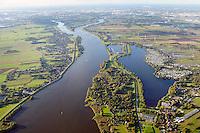 Elbe Landschaft: EUROPA, DEUTSCHLAND, HAMBURG, NIEDERSACHSEN,  27.09.2015: Elbe Landschaft in den Marschlanden