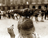 Girl and Bird. photo by jane therese