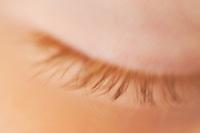 macro closed girl eye