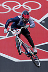 Mcc0041438 . Daily Telegraph..DT Sport..2012 Olympics..Team GB's Shanaze Reade at the BMX track today for the seeding phase of the Womens BMX racing competition...8 August 2012....