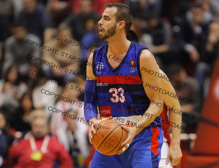 Kosarka ABA League season 2014-2015<br /> Crvena Zvezda v Igokea<br /> Nikola Dragovic<br /> Beograd, 15.12.2014.<br /> foto: Srdjan Stevanovic/Starsportphoto&copy;