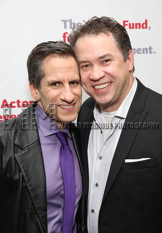 Seth Rudetsky and James Wesley attends The Actors Fund Annual Gala at the Marriott Marquis on 5/8//2017 in New York City.