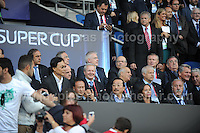 Cardiff City Stadium, Cardiff, South Wales - Tuesday 12th Aug 2014 - UEFA Super Cup Final - Real Madrid v Sevilla - <br /> <br /> Dignataries sat alongside UEFA &amp; FIFA officials, including Michael Platini. <br /> <br /> <br /> <br /> <br /> Photo by Jeff Thomas/Jeff Thomas Photography
