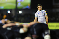 George Ford of Bath Rugby watches a scrum. Aviva Premiership match, between Newcastle Falcons and Bath Rugby on January 6, 2017 at Kingston Park in Newcastle upon Tyne, England. Photo by: Patrick Khachfe / Onside Images