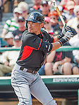 19 March 2015: Miami Marlins outfielder Ichiro Suzuki in Spring Training action against the Atlanta Braves at Champion Stadium in the ESPN Wide World of Sports Complex in Kissimmee, Florida. The Braves defeated the Marlins 6-3 in Grapefruit League play. Mandatory Credit: Ed Wolfstein Photo *** RAW (NEF) Image File Available ***