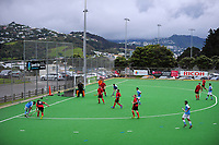 Action from the Wellington premier one men's hockey match between Indians and Naenae at National Hockey Stadium in Wellington, New Zealand on Saturday, 29 April 2017. Photo: Dave Lintott / lintottphoto.co.nz