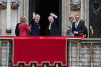 German President Gauck during State visit in Belgium - City Hall - Brussels
