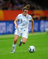 Heather O'Reilly of team USA during the FIFA Women's World Cup Final USA against Japan at the FIFA Stadium in Frankfurt, Germany on July 17th, 2011.