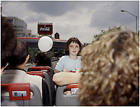 "A young girl enjoys a ride on the Mexico City double decker tourbus ""Turibus"", part of the landscapes of tourism series, Mexico City 2004. Exhibited in the Salon Malafama as part of the ""Vacaciones"" series, Mexico City July, 2006"