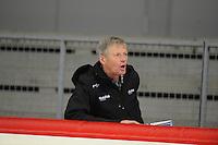 SPEED SKATING: INZELL: 08-12-2015, Max Aicher Arena, werelduurrecord Erik Jan Kooiman, aanmoedigingen van vader Jan Kooiman, ©foto Martin de Jong