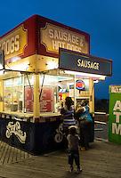 Boardwalk food vendor stand, Atlantic City, New Jersey, USA
