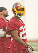 Defensive back Bashaud Breeland (26) of Clemson, who was chosen in the fourth round of the recent NFL draft, participates in the Washington Redskins' rookie minicamp at Redskins Park in Ashburn, Virginia on Saturday, May 17, 2014.<br /> Credit: Ron Sachs / CNP