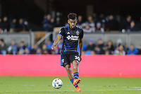 San Jose, CA - Saturday, March 04, 2017: Anibal Godoy during a Major League Soccer (MLS) match between the San Jose Earthquakes and the Montreal Impact at Avaya Stadium.