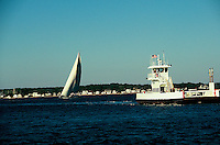 North Ferry, Running Between Greenport and Shelter Island, Southhold Bay, New York, USA