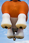 Hot air balloons like this giant dog balloon dot the skies at the 2008 Shenandoah Valley Hot Air Balloon Festival at Historic Long Branch in Millwood, Virginia.