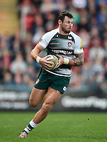 Adam Thompstone of Leicester Tigers in possession. Aviva Premiership match, between Leicester Tigers and Wasps on November 1, 2015 at Welford Road in Leicester, England. Photo by: Patrick Khachfe / Onside Images