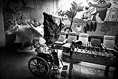 Wroclaw 02.02.2007 Poland.<br /> Patryk Dec, 6 in front of hospital with protection mask.<br /> Clinical Hospital, oncology and haematology departmend. This is one of the important Haematologic Hospital in all over Poland, however hospital board stopped to discharge a rising debt. In this connection authorities must close hospital, but goverment had no idea what should do with terminaly ill children.<br /> (Photo: Adam Lach / Napo Images)<br /> <br /> Akedemicki Szpital Kliniczny, oddzial onkologii i hematologii. Temu jednemu z najwazniejszych w Polsce osrodkowi szpitalnemu grozi zamkniecie w powodu dlugow, ktore niezaleznie od wplat NFZ-tu regularnie sciaga komornik. Z calej Polski ludzie charytatywnie wplacaja pieniadze by uratowac szpital i los dzieci dla ktorych to miejsce jest jedynym ratunkiem.