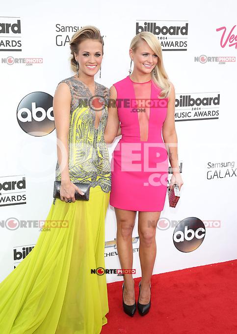 LAS VEGAS, NV - May 18 : Carrie Underwood and Miranda Lambert pictured at 2014 Billboard Music Awards at MGM Grand in Las Vegas, NV on May 18, 2014. © Kabik/ Starlitepics