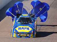 Feb 25, 2017; Chandler, AZ, USA; NHRA funny car driver Ron Capps during qualifying for the Arizona Nationals at Wild Horse Pass Motorsports Park. Mandatory Credit: Mark J. Rebilas-USA TODAY Sports