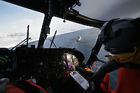 Air operations with a Westland Lynx helicopter.