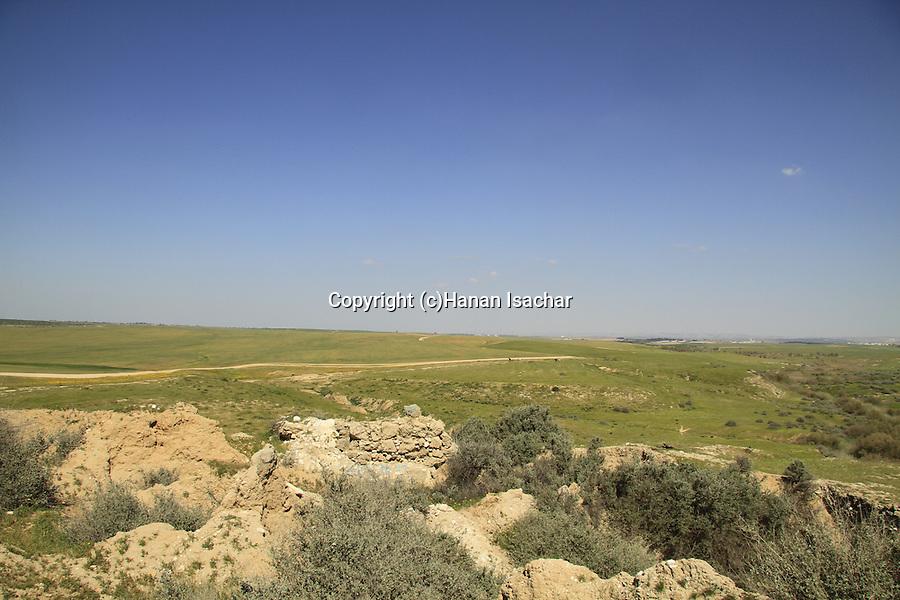 Israel, Northern Negev, excavations at Tel esh-Sharia, site of Biblical Ziklag
