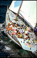 BNPS.co.uk (01202 558833)<br /> Pic: RogerLean-Vercoe/PPL/BNPS<br /> <br /> ***Please use full byline*** <br /> <br /> 1985/86 Whitbread Round The World Yacht Race: 'Maiden' skippered by Tracy Edwards.<br /> <br /> A boat that sailed into the history books 27 years ago but subsequently ran to ruin has been rescued by its former skipper and is now due to arrive home. <br /> <br /> Sailing heroine Tracy Edwards hit headlines in 1990 after leading the first all-female crew to the finish line of the prestigious Whitbread Round the World Race.<br /> <br /> When Miss Edwards, 54, checked up on the boat, called Maiden, in 2014 she was &quot;shocked&quot; and &quot;saddened&quot; to find it in a state of complete disrepair. <br /> <br /> After a successful fundraising campaign Maiden is scheduled to take to the seas once again June 2018 after being returned to her to her former glory.