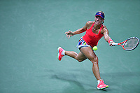 NEW YORK, USA - SEPT 09, Angelique Kerber of Germany returns a shot against Caroline Wozniacki of Denmark during their Women's Singles Semifinal Match of the 2016 US Open at the USTA Billie Jean King National Tennis Center on September 8, 2016 in New York.  photo by VIEWpress