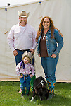 Troy, Eusty & Hannabell Barbee of Oklahoma with their dog at the Jordan Valley BIg Loop Rodeo